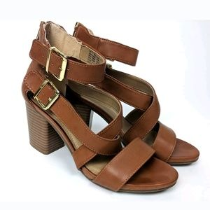 Kenneth Cole Reaction Strappy Buckle Sandal Heels